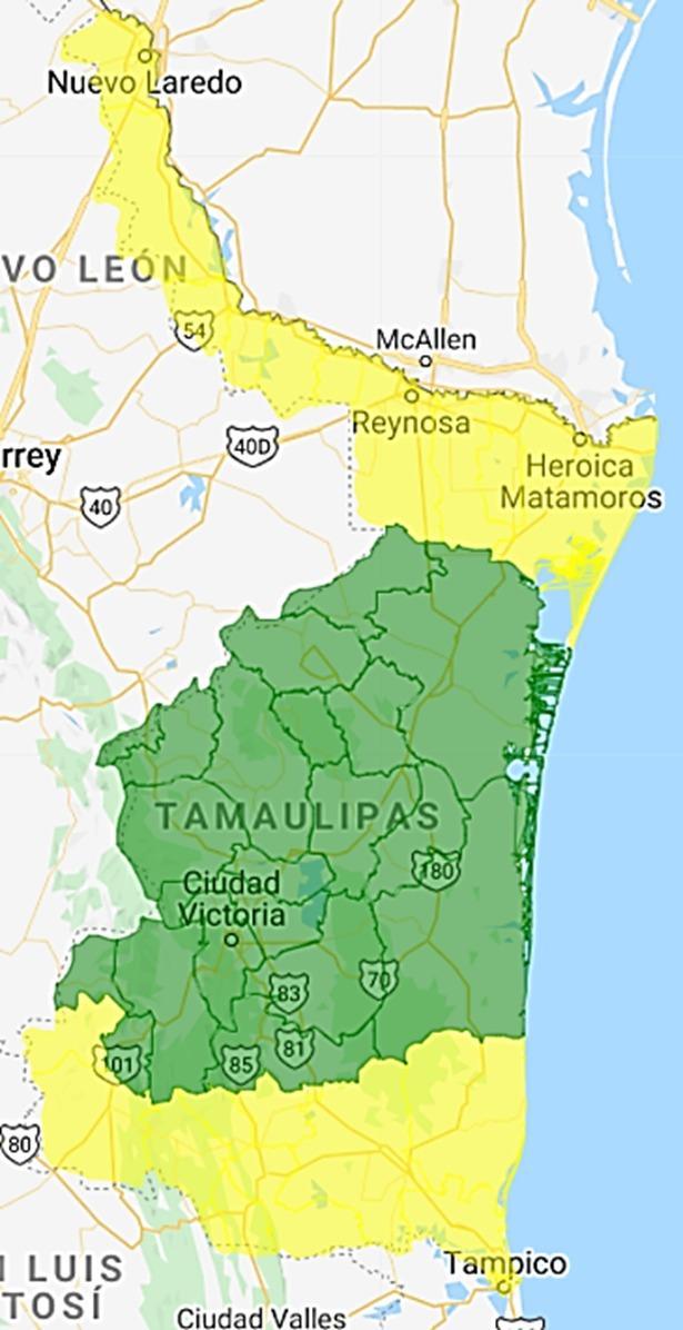 Medio Tamaulipas en verde