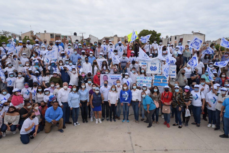 En Unidad Chucho Nader y Candidatos  A Diputados del PAN Inician Campaña