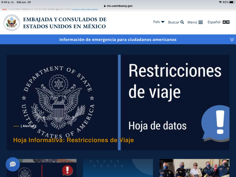 Alerta de Seguridad de EU para viajar a Reynosa