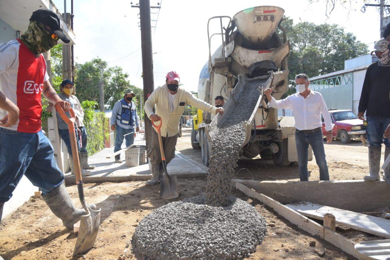 Notorio Avance Registran Nuevas Obras de Pavimentación en Tampico