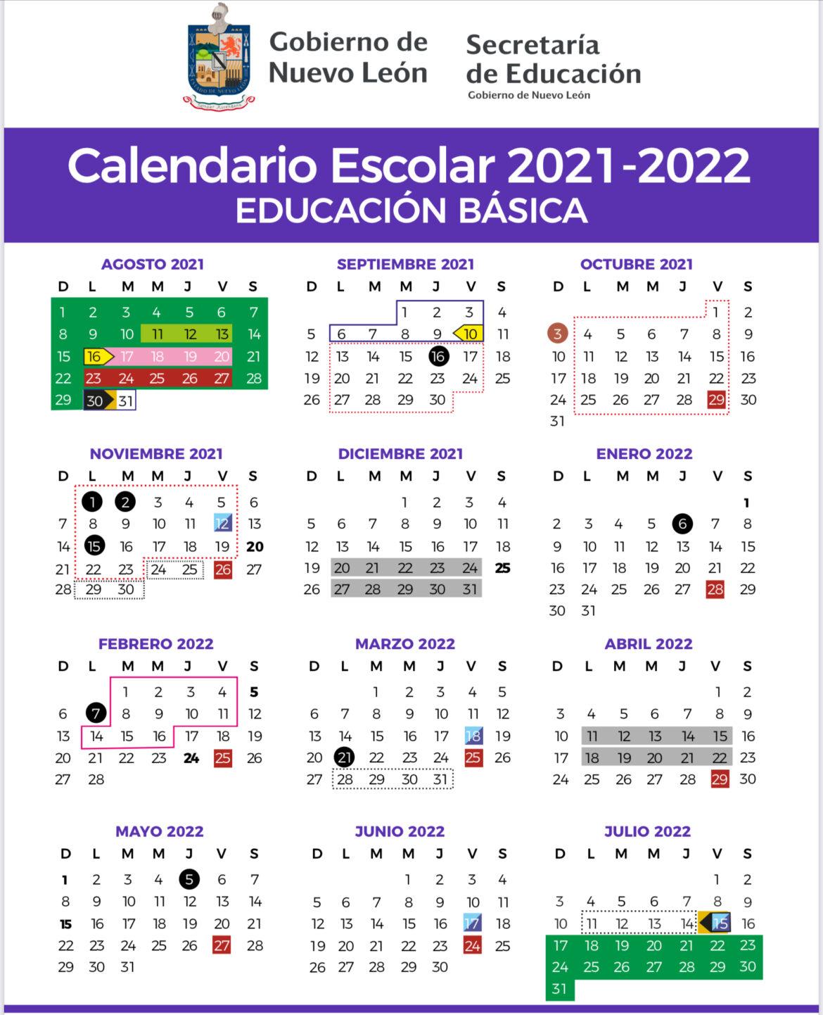 Presenta NL calendario escolar