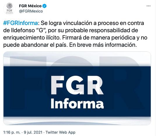 Va FGR por Ildelfonso Guajardo