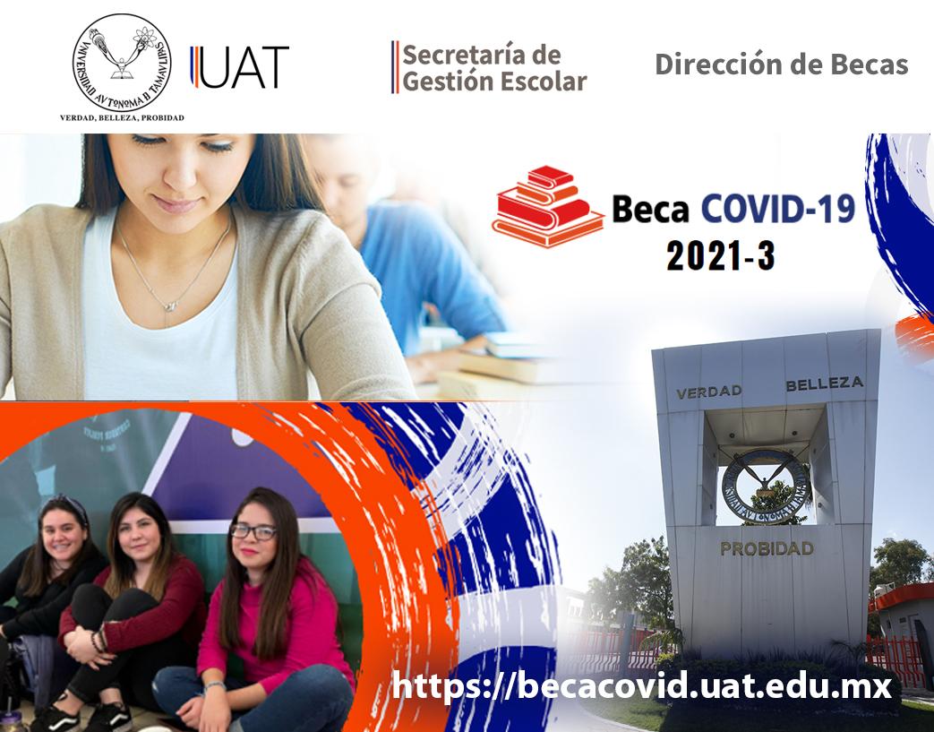 Publica UAT la convocatoria de la Beca COVID