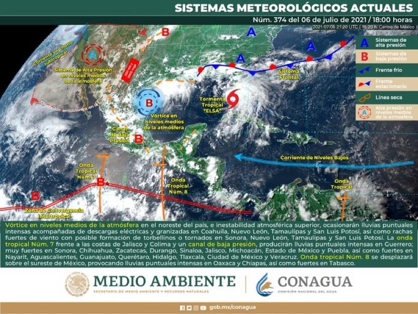 Alertan de tormentas en  NL y Tamaulipas