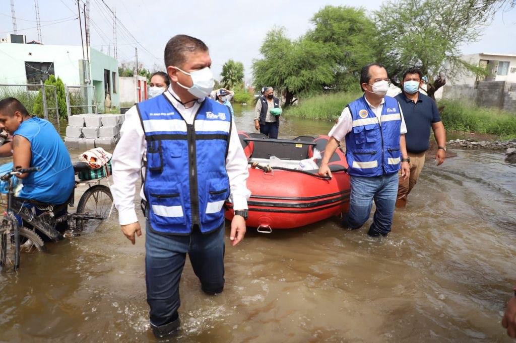 Solicita Gobierno de Tamaulipas declaratoria de emergencia por inundaciones en Matamoros