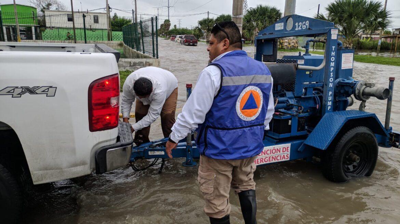 Sigue lloviendo en Matamoros