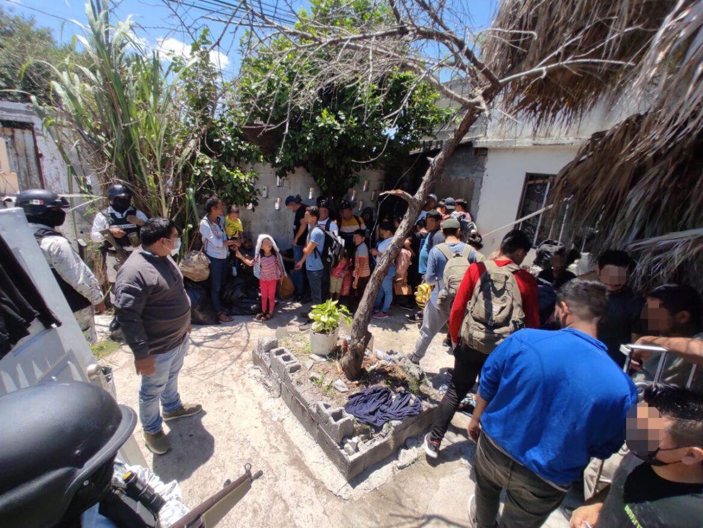 Aseguran a 55 centroamericanos en Matamoros