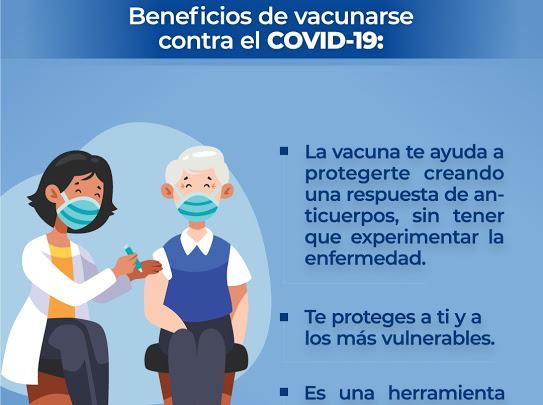 Vacuna ve Covid nos protege a todos