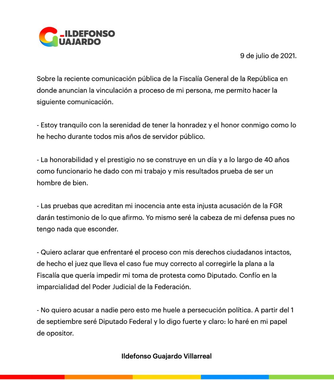 """Denuncia Ildelfonso """"persecución política"""""""