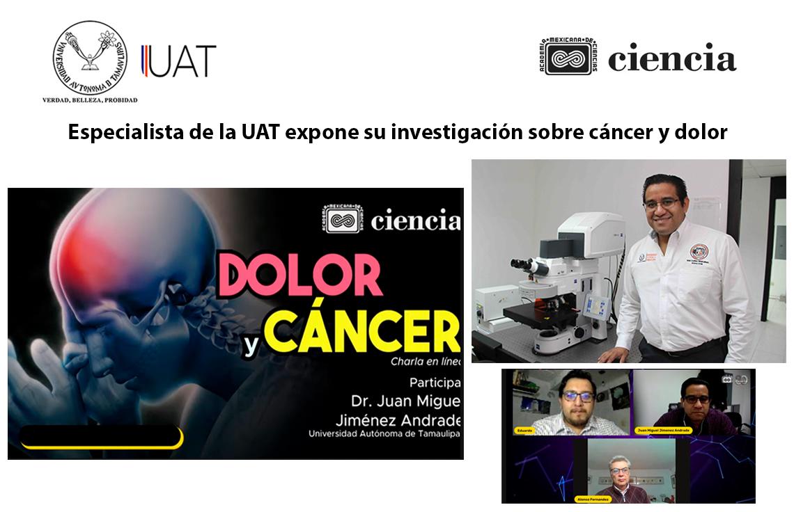 Especialista de la UAT expone su investigación en temas de cáncer y dolor