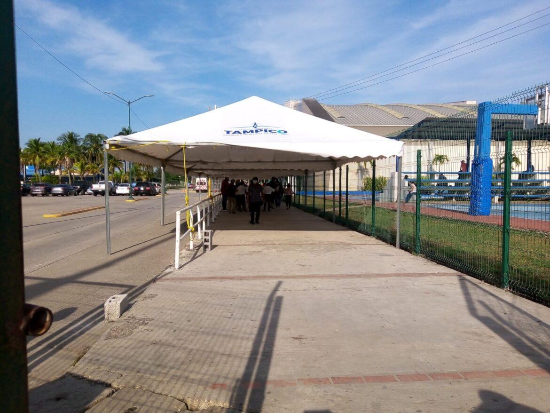 Lenta la afluencia de 30 a 39 en segunda dosis en Tampico