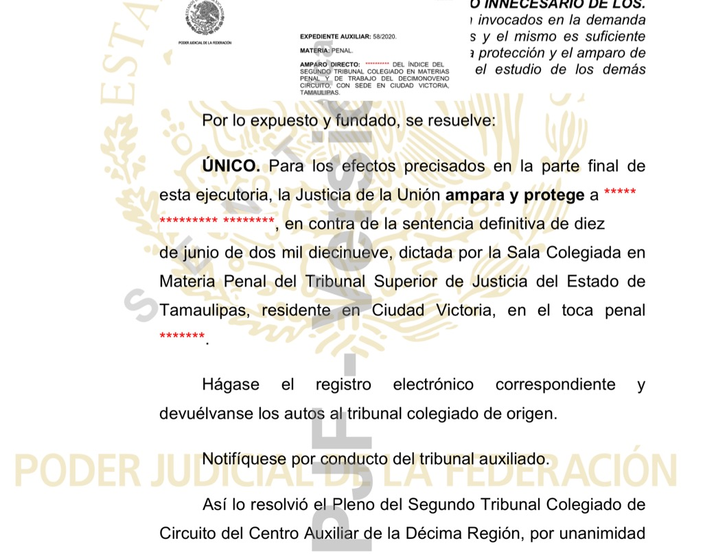 Revocan sentencia a esposo de la española