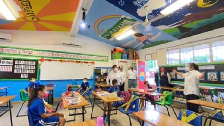 Así regresó a clases la primera escuela pública de Tampico