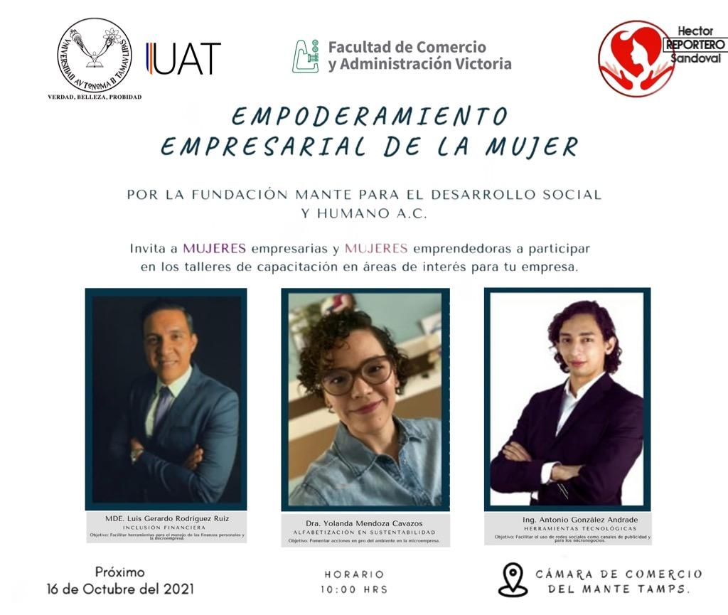 Impartirá la UAT taller a empresarias y emprendedoras