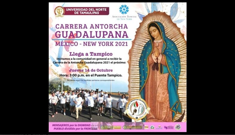 Llega antorcha guadalupana a Tamaulipas
